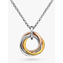 Buy Hot Diamonds Trio Ring Pendant Online at johnlewis.com