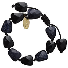 Buy Lola Rose Tess Black Cherry Quartzite Bracelet, Black Online at johnlewis.com