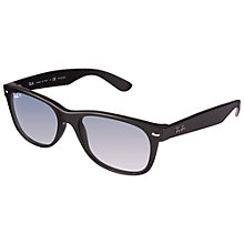 Buy Ray-Ban RB2132 New Wayfarer Sunglasses, Matte Black Online at johnlewis.com