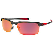 Buy Oakley OO9174 Carbon Blade Sunglasses, Polished Red Online at johnlewis.com