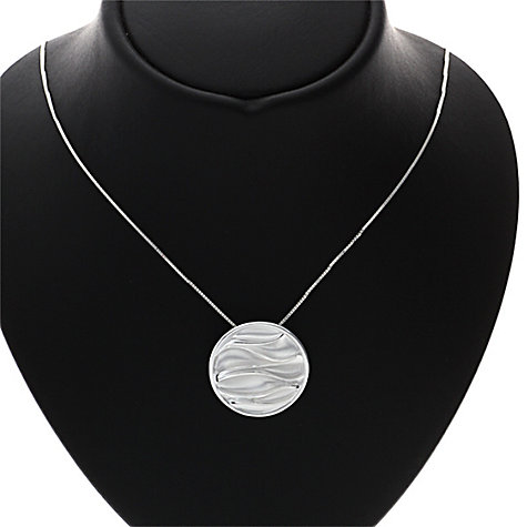 Buy Nina B Sterling Silver Wrinkled Texture Round Pendant Online at johnlewis.com