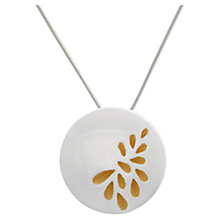 Buy Nina B Sterling Silver Gold Leaves Detail Pendant Online at johnlewis.com