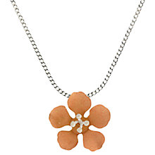 Buy Nina B Flower Pendant, Rose Gold Online at johnlewis.com