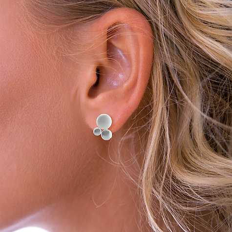Buy Nina B Sterling Silver Bubble Stud Earrings Online at johnlewis.com