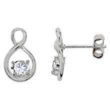 Buy Nina B Sterling Silver Twist Stud Earrings Online at johnlewis.com