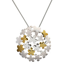 Buy Nina B Sterling Silver Flower Bubble Pendant, Silver / Gold Online at johnlewis.com