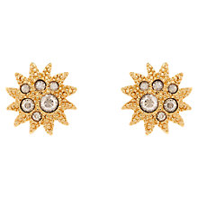 Buy Cachet Soleil Gold Plated Swarovski Crystal Stud Earrings Online at johnlewis.com