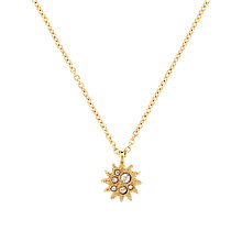 Buy Cachet London Gold Plated Swarovski Crystal Soleil Pendant Online at johnlewis.com