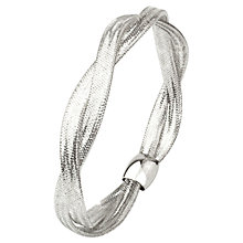 Buy A B Davis 9ct Twist Mesh Bangle Online at johnlewis.com