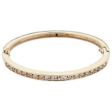 Buy Cachet London Gold Plated Swarovski Crystal Row Bangle, Gold Online at johnlewis.com