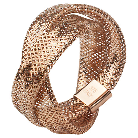 Buy A B Davis 9ct Gold Twist Mesh Ring Online at johnlewis.com