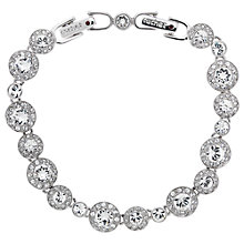 Buy Cachet London Rhodium Plated Swarovski Crystal Diablo Bracelet, Silver Online at johnlewis.com