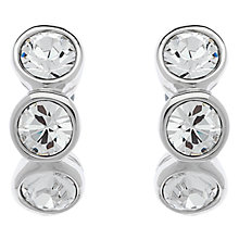 Buy Cachet Swarovski Crystal 3 Stone Mini Stud Earrings Online at johnlewis.com