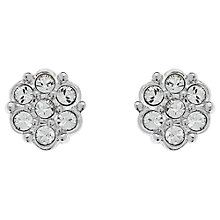 Buy Cachet Rhodium Plated Swarovski Crystal 7 Stone Stud Earrings, Silver Online at johnlewis.com