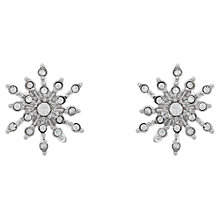 Buy Cachet Rhodium Plated Swarovski Crystal Sunburst Stud Earrings, Silver Online at johnlewis.com