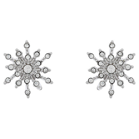 Buy Cachet London Rhodium Plated Swarovski Crystal Sunburst Stud Earrings Online at johnlewis.com