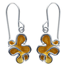 Buy Nina B Sterling Silver Squiggle Drop Earrings, Silver / Gold Online at johnlewis.com