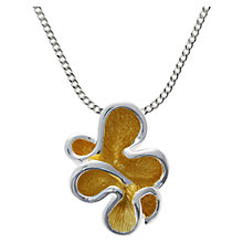 Buy Nina B Sterling Silver Squiggle Pendant, Silver / Gold Online at johnlewis.com