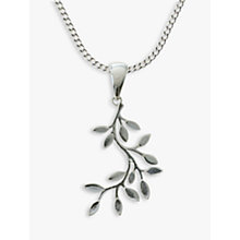 Buy Nina B Sterling Silver Leaves Pendant Online at johnlewis.com