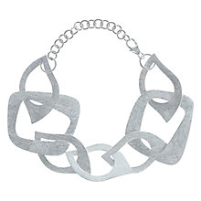 Buy Nina B Sterling Silver Open Wavy Links Bracelet Online at johnlewis.com