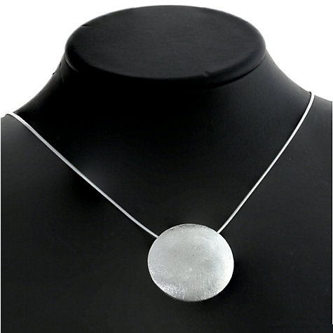 Buy Nina B Sterling Silver Brushed Button Pendant Online at johnlewis.com