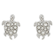 Buy Cachet London Swarovski Crystal Turtle Stud Earrings, Rhodium Online at johnlewis.com
