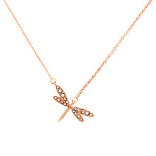 Buy Cachet London Rose Gold Plated Swarovski Crystal Dragonfly Pendant Online at johnlewis.com