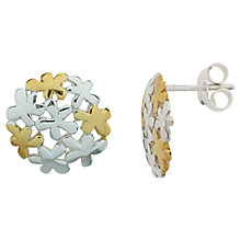 Buy Nina B Flower Bubble Earrings, Silver Online at johnlewis.com