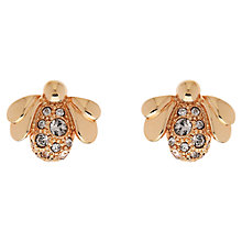 Buy Cachet London Swarovski Crystal Rose Gold Plated Bee Stud Earrings Online at johnlewis.com