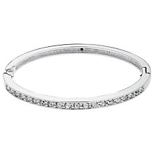 Buy Cachet Pave Swarovski Crystal Hinged Bangle, Silver Online at johnlewis.com
