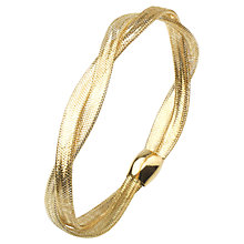 Buy A B Davis 9ct Yellow Gold Multi Twist Bangle Online at johnlewis.com