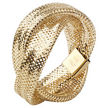 Buy A B Davis 9ct Twist Mesh Ring Online at johnlewis.com