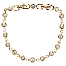 Buy Cachet London Gold Plated Swarovski Crystal Linked Bracelet, Gold Online at johnlewis.com