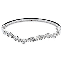 Buy Cachet Rhodium Plated Swarovski Crystal Laura Bangle, Silver Online at johnlewis.com