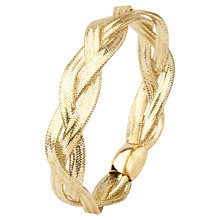 Buy A B Davis 9ct Multi Flexi Twist Mesh Bangle Online at johnlewis.com
