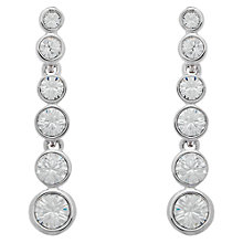Buy Cachet London Rhodium Plated Swarovski Crystal Dazzle Drop Earrings, Silver Online at johnlewis.com