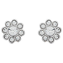 Buy Cachet London Rhodium Plated Swarovski Crystal Mini Pave Stud Earrings, Silver Online at johnlewis.com