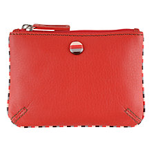 Buy Tula Mallory Leather Coin Purse, Red Online at johnlewis.com