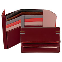 Buy Tula Violet Leather Medium Flap Wallet Purse Online at johnlewis.com