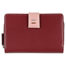 Buy Tula Violet Leather Purse, Red Online at johnlewis.com