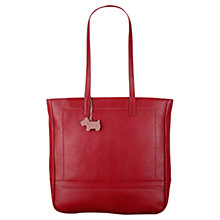 Buy Radley Finsbury Large Leather Tote Bag, Red Online at johnlewis.com