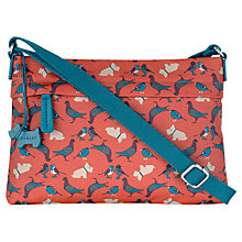 Buy Radley Dog And Bird Cross Body Bag, Orange Online at johnlewis.com