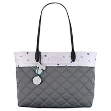 Buy Radley Ditsy Lining Quilted Tote Bag, Grey Online at johnlewis.com