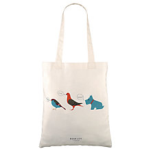 Buy Radley A Little Bird Told Me Tote Bag, Natural Online at johnlewis.com