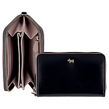 Buy Radley Blair Medium Zip Wristlet Leather Purse, Black Online at johnlewis.com