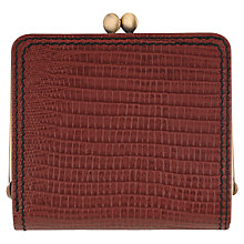 Buy Tula Originals Lizard Leather Clip Purse, Burgundy Online at johnlewis.com