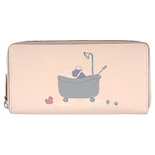 Buy Radley Bubble Trouble Zip Matinee Leather Purse, Ivory Online at johnlewis.com