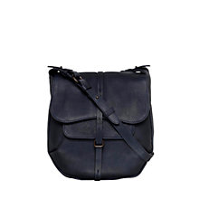 Buy Radley Grosvenor Leather Cross Body Bag, Navy Online at johnlewis.com