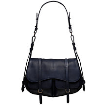 Buy Radley Grosvenor Leather Shoulder Bag, Navy Online at johnlewis.com
