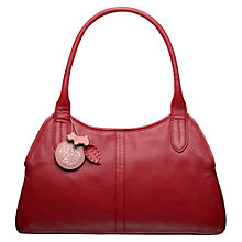 Buy Radley Fulham Large Leather Tote Bag, Red Online at johnlewis.com